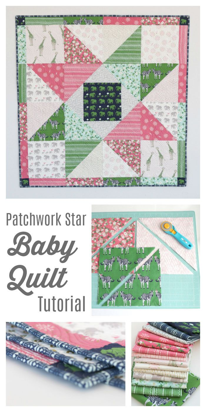 Patchwork Star Baby Quilt Tutorial by Diary of a Quilter - The Polka Dot Chair