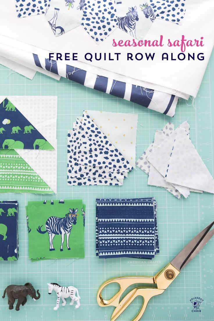 Seasonal Safari Quilt Pattern - offered as a free quilt along this Fall from the...