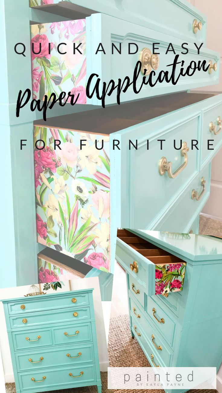 Super quick and easy way to attach paper to furniture! Step by step tutorial PLU...