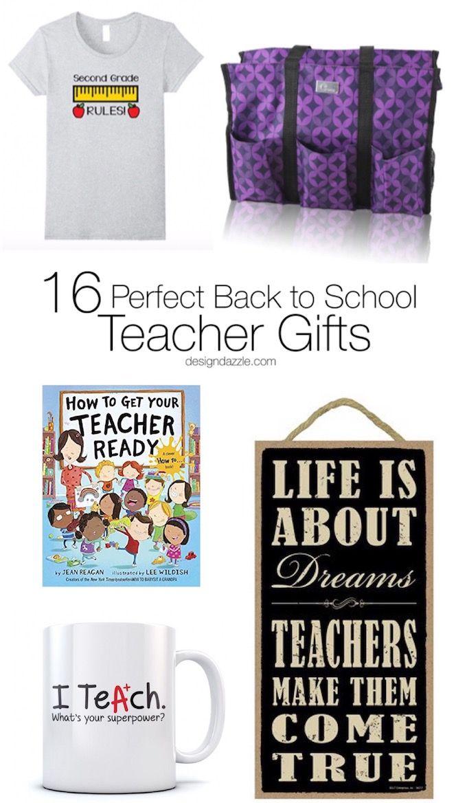Teachers work so hard! This post has 16 of my favorite back to school teacher gi...