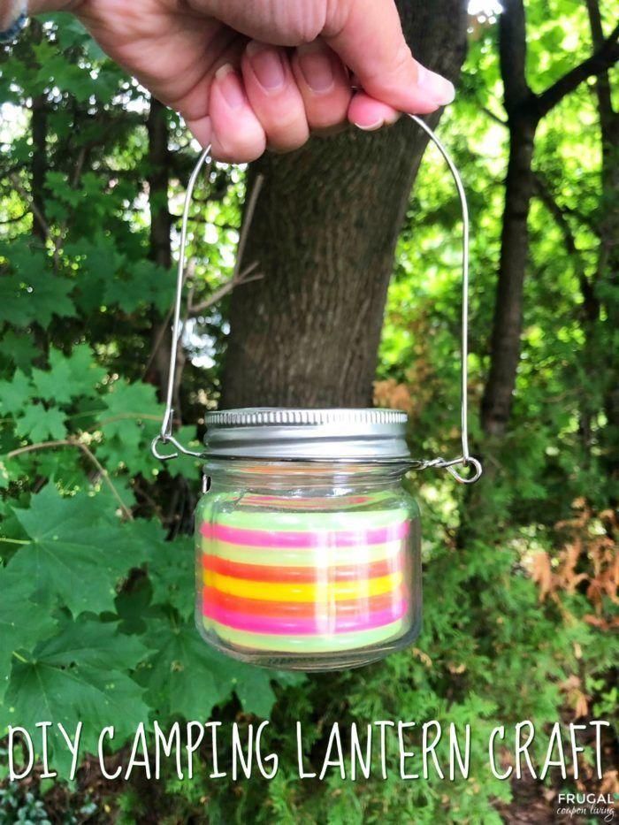 Diy Crafts This Glow In The Dark Rainbow Diy Camping Lantern Craft