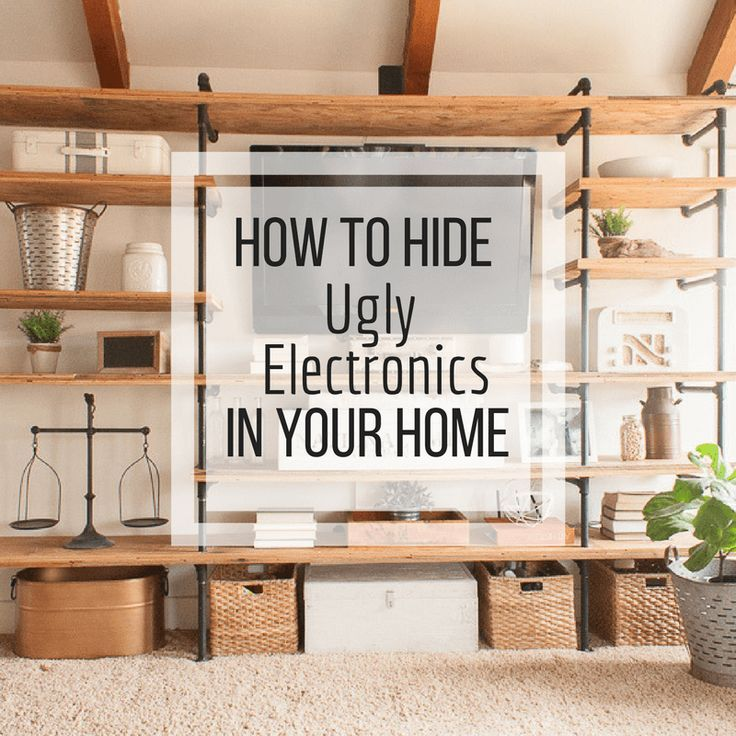 Ugly media electronics can really ruin the whole look of a room. Use these tips ...