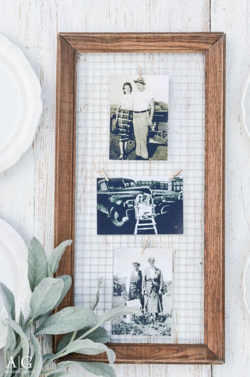DIY Crafts : Vintage Farmhouse Picture Frames. Chicken Wire and Wood ...