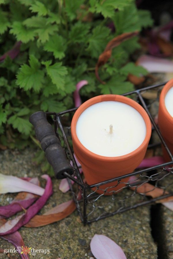citronella candles to ward off bugs - Terracotta citronella candles DIY Project ...