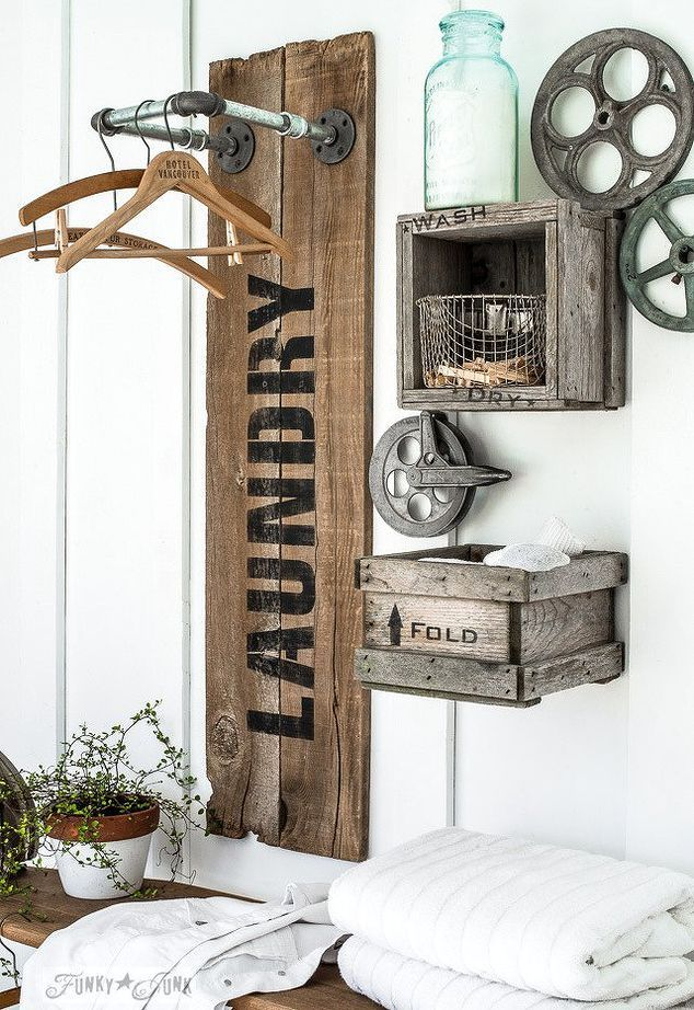 industrial farmhouse laundry hangups you ll want , closet, crafts, fences, home ...