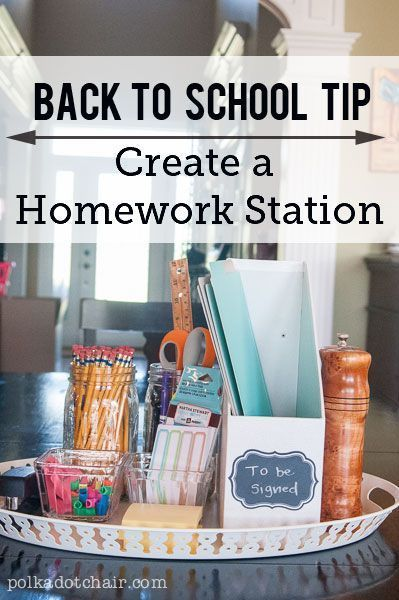 my favorite back to school tips, create a homework station at your house. The su...