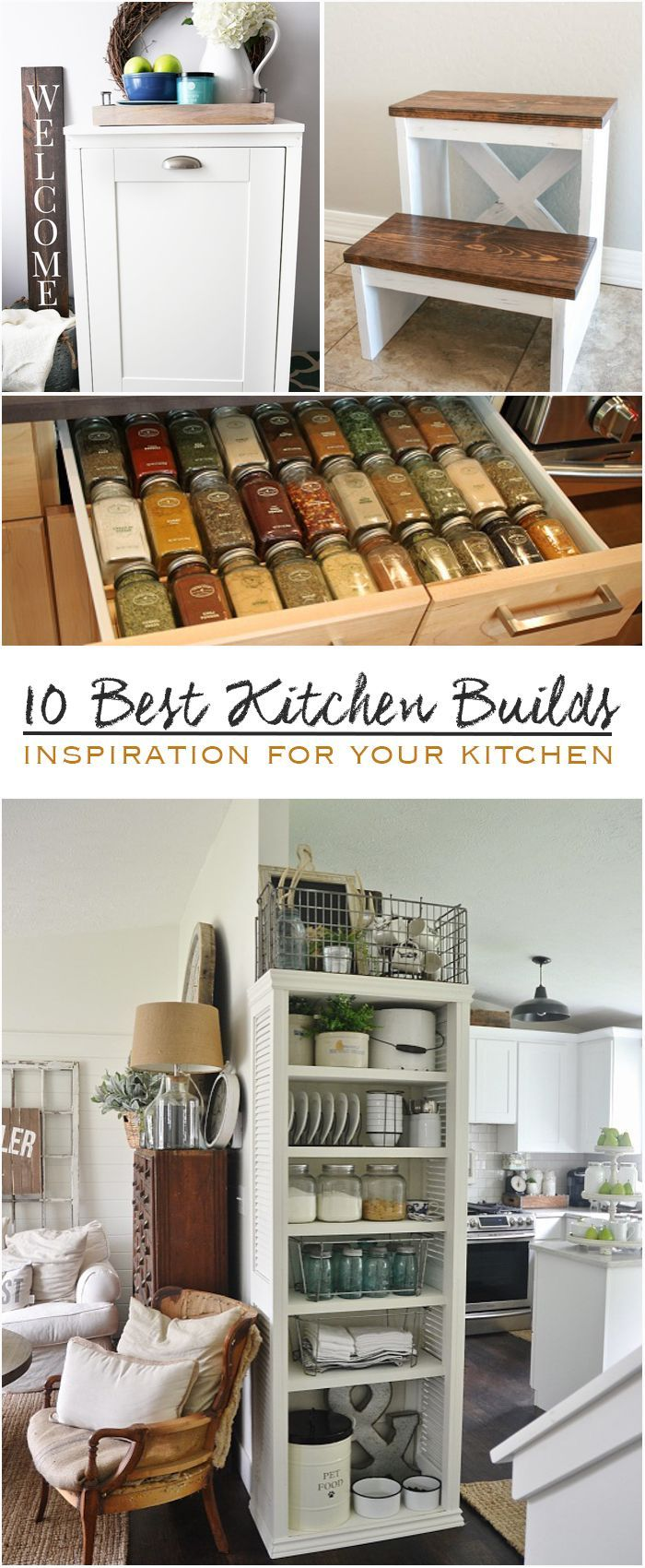10 Best Kitchen Builds #projects #inspiration #blogger #DIY #tutorial #howto #ma...