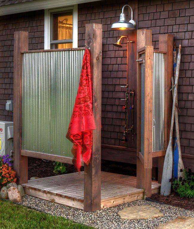 32 Inspiring Outdoor Shower Ideas From Easy Diy Enclosures Creat