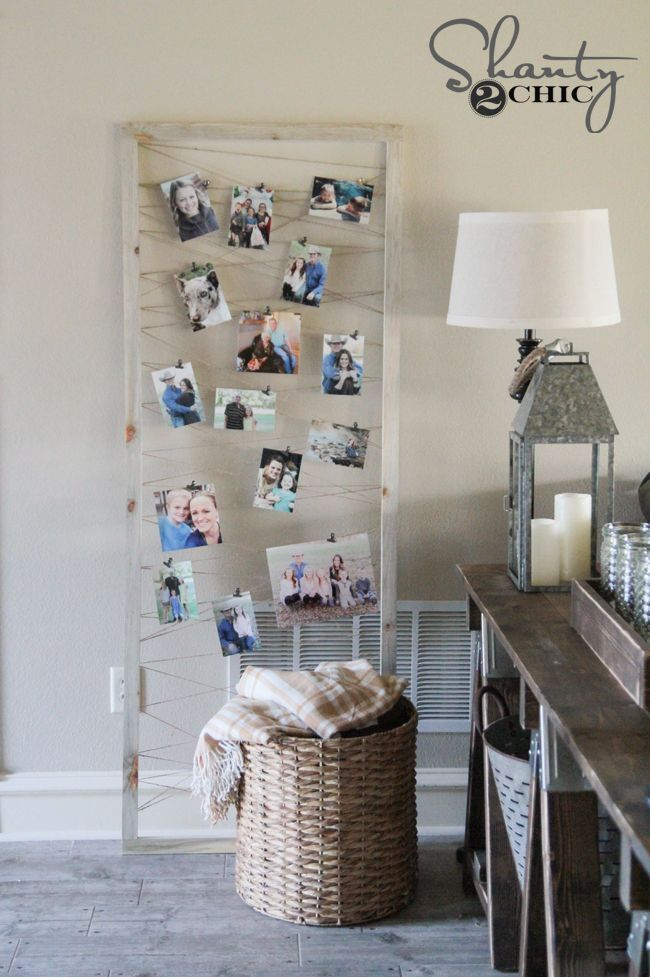 $6 DIY Photo Display Tutorial by Shanty2Chic. A cute way to display  photos and ...