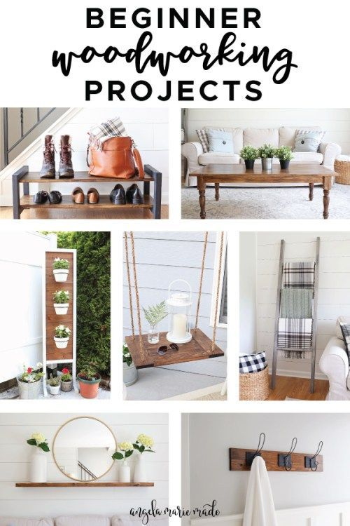 Diy Furniture 7 Easy Beginner Woodworking Projects For