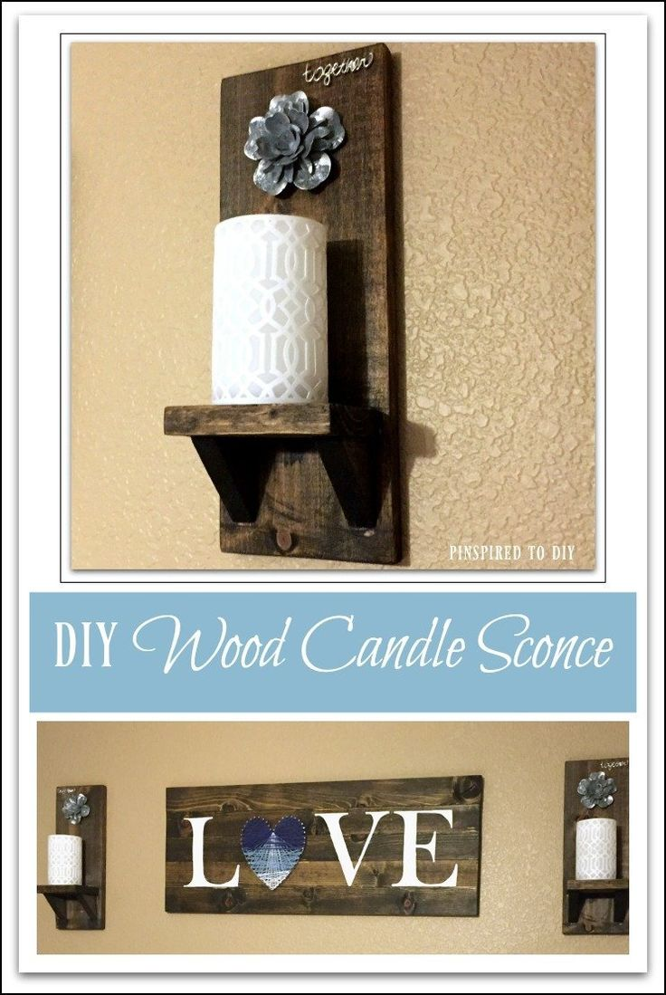 DIY Furniture : DIY Rustic Wood Wall Sconce. Free plans for building ...