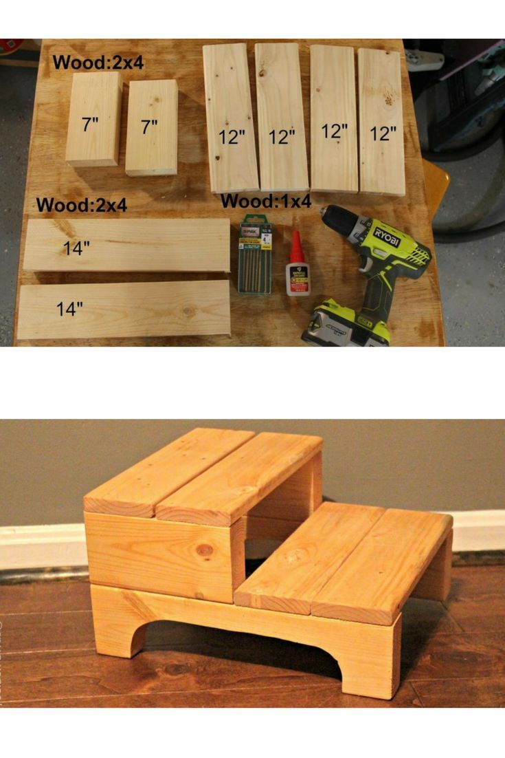 DIY Step stool.  Perfect kids size step stool.  Give your kid a boost at the bat...