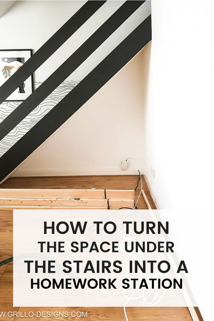 DIY Under Stairs Homework Station (with IKEA) #kidsdecor #smallspace