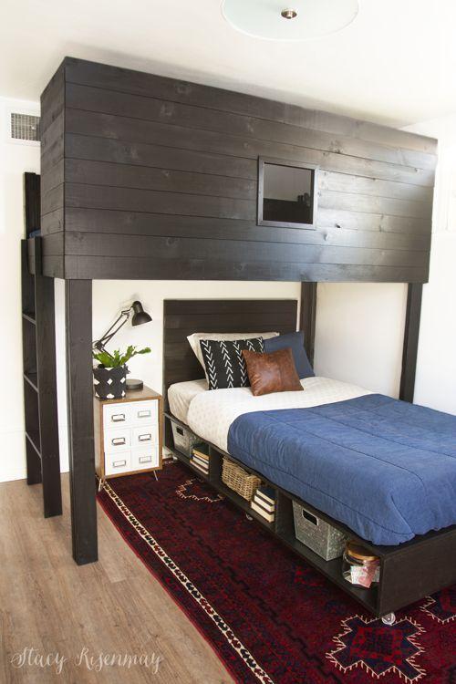 DIY beds for tween and tween boy bedroom! #DIYbeds #DIYbed #boyroom #boybedroom ...