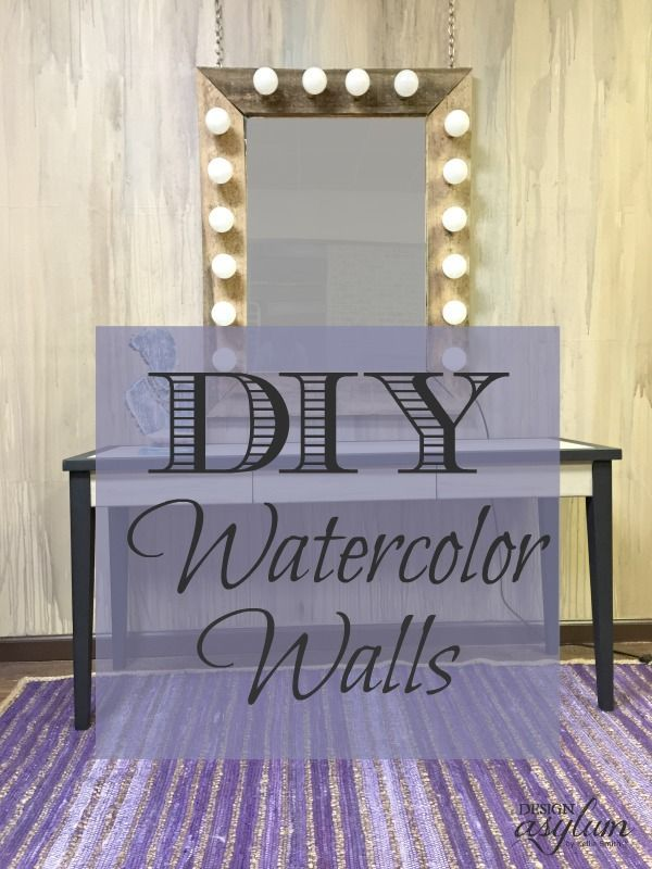 DIY gorgeous watercolor walls! It's easier than you think, and just as messy...