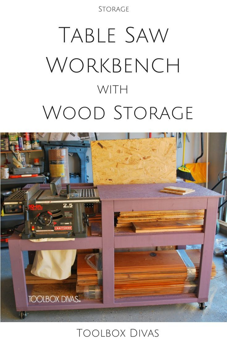 Diy Furniture Diy Table Saw Workbench For Your Garage Diy