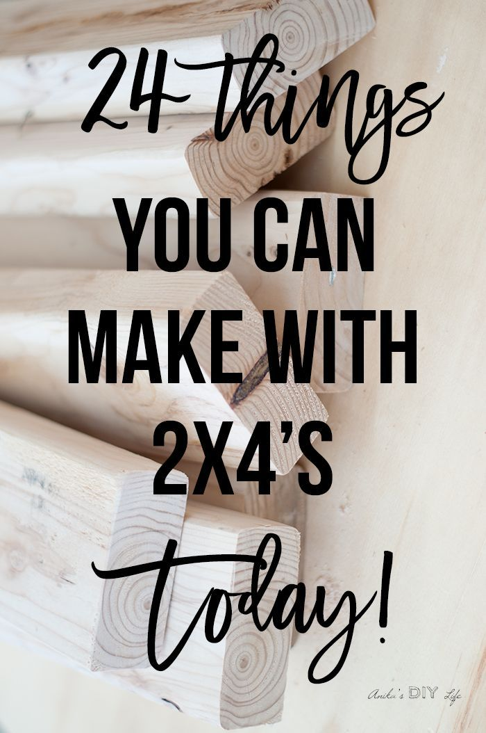 Easy DIY 2x4 Project ideas - simple, inexpensive and great looking! These 2x4 pr...