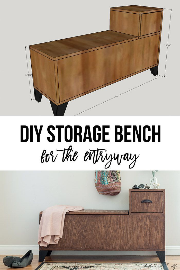 Diy Furniture Easy Diy Entryway Storage Bench Perfect For