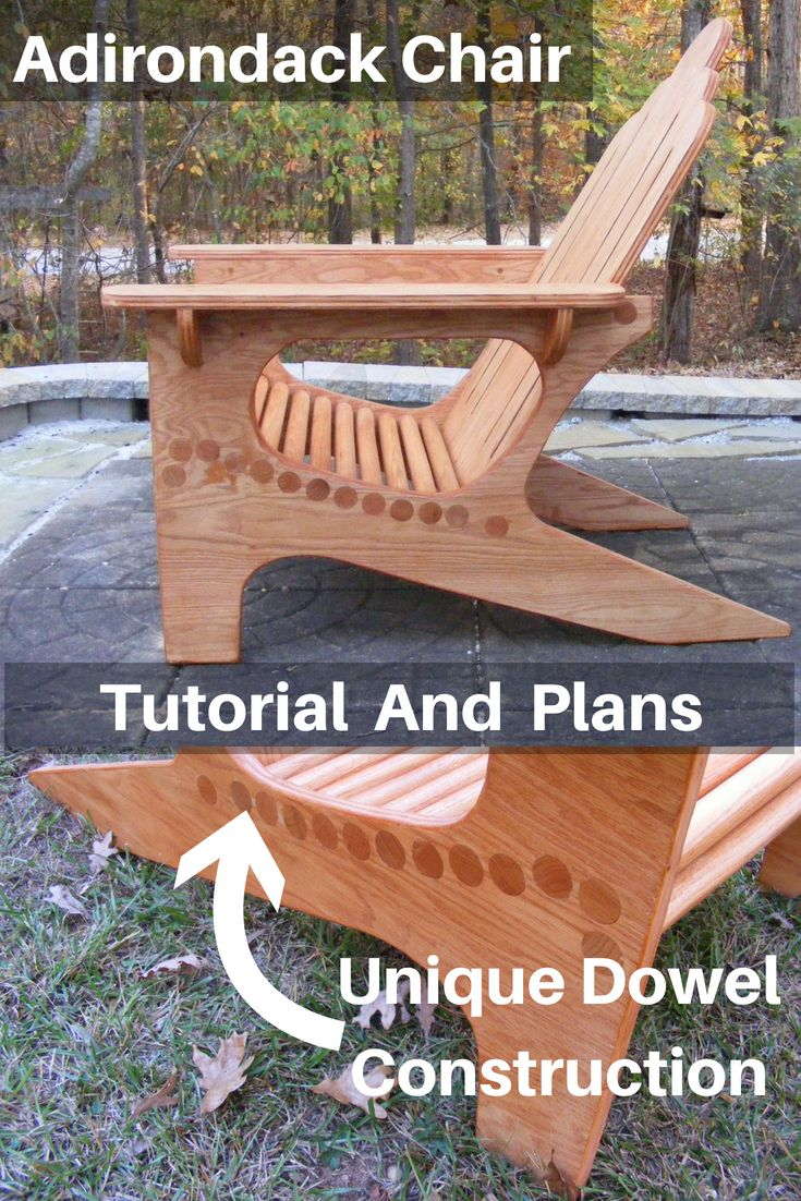 Get the tutorial and plans to build a unique Adirondack Chair. This one is made,...
