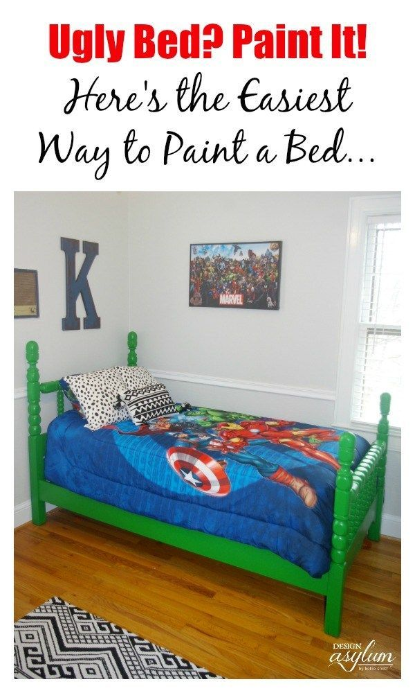 Have an ugly bed? Paint it with Velvet Finishes! Here is the easiest way to pain...
