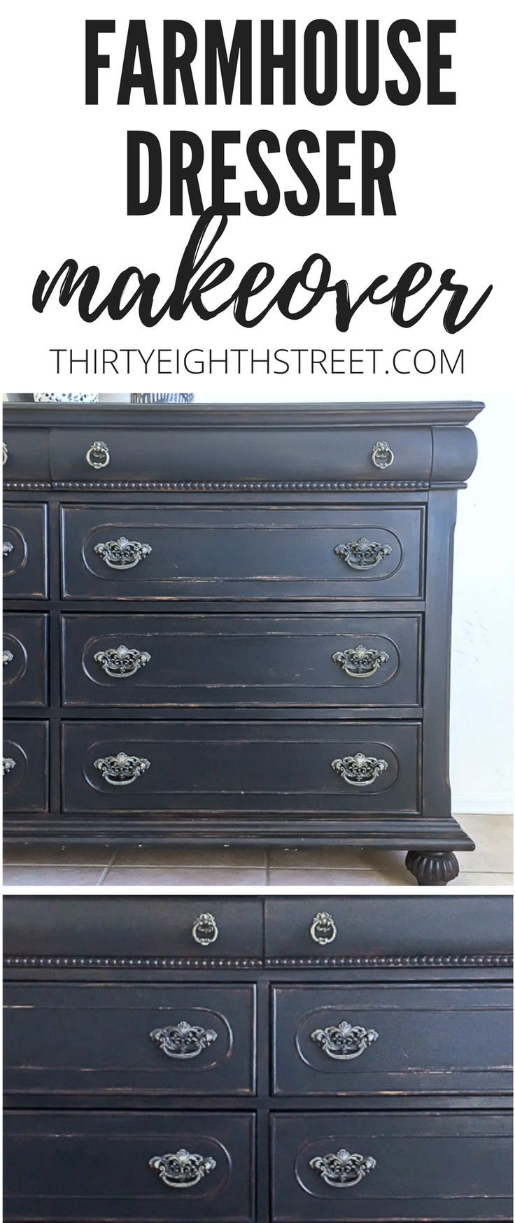 How To Paint and Distress Old Furniture. Painting Furniture To Create Farmhouse ...