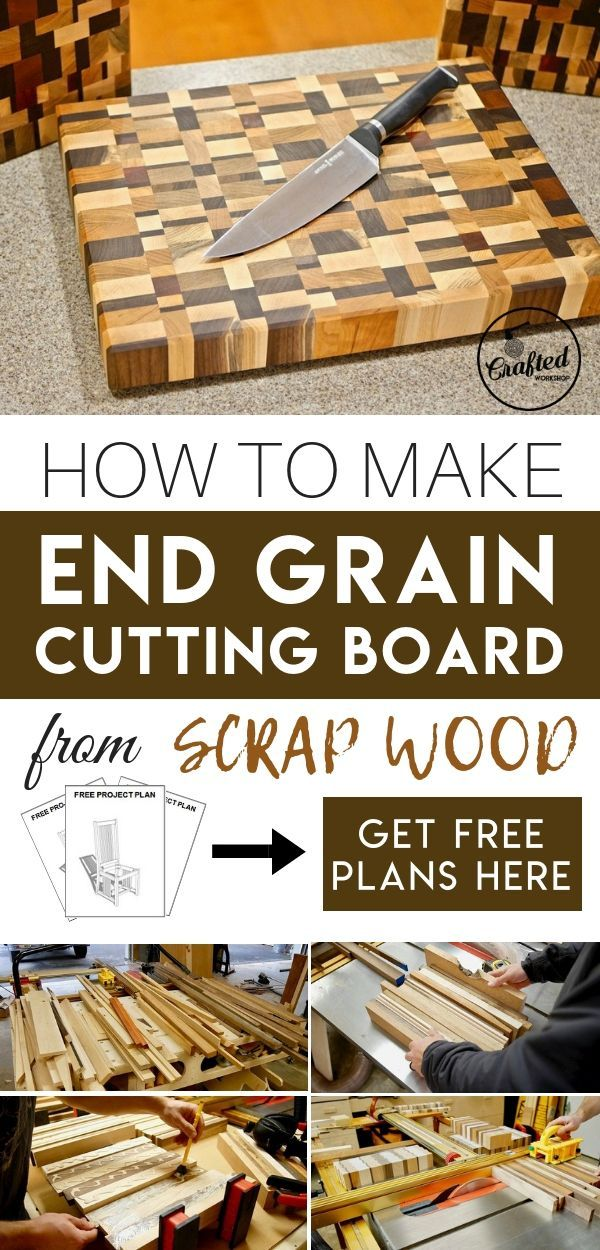 Diy Furniture How To Make End Grain Cutting Board From