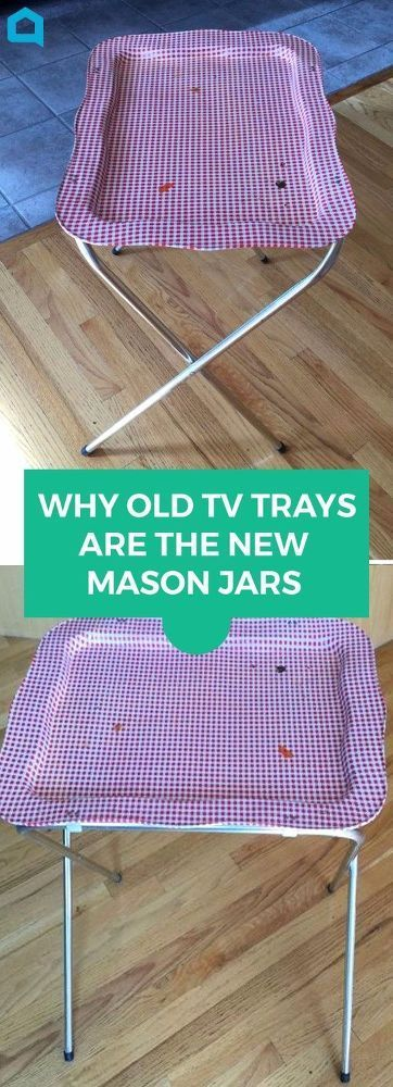 If you have a TV tray lying around, you're gonna love this! #DIY #diyhomedecor #...