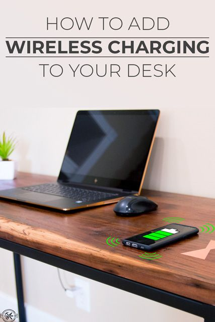Learn How to Make a Desk with Wireless Charging.  You'll learn how to instal...