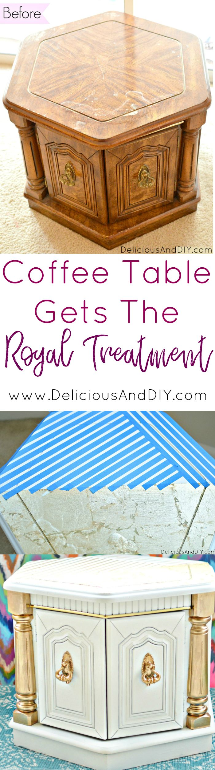 Learn how to paint your old furniture and give it the Royal Treatment| Give a fl...