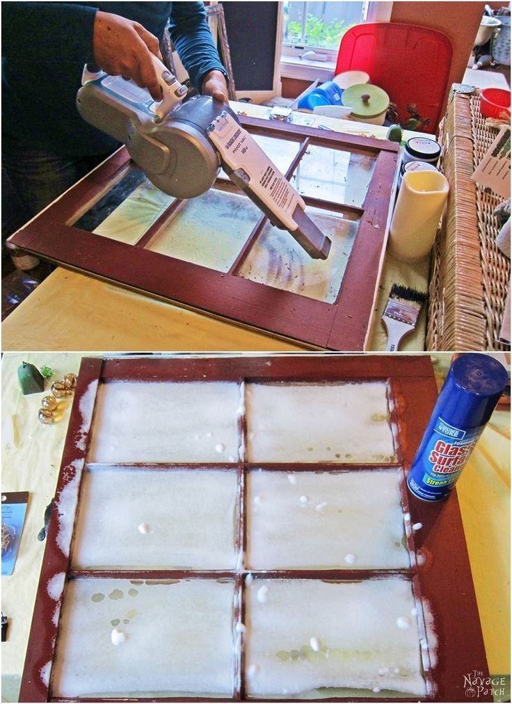 Old Window Makeover With Crackled Paint Finish | How to apply crackle paint | DI...