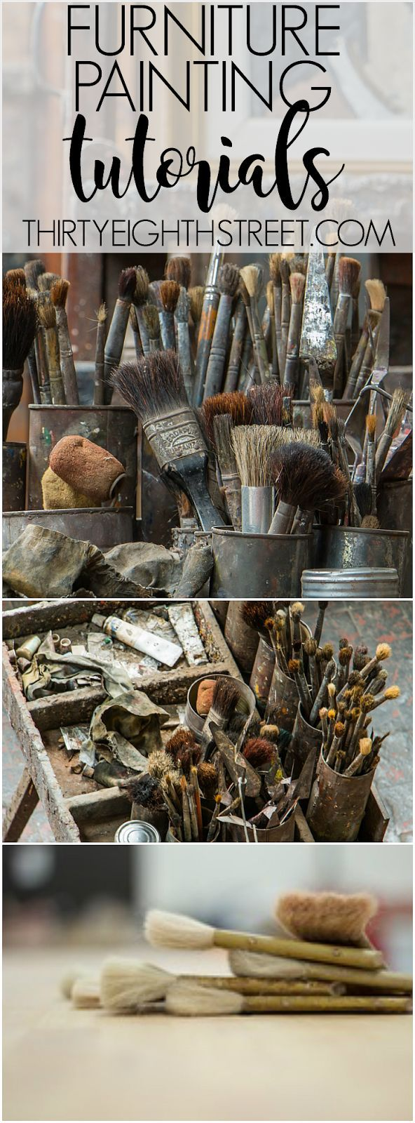 Painting Furniture Resource! Awesome Repurposed Furniture Tutorials and Tips For...