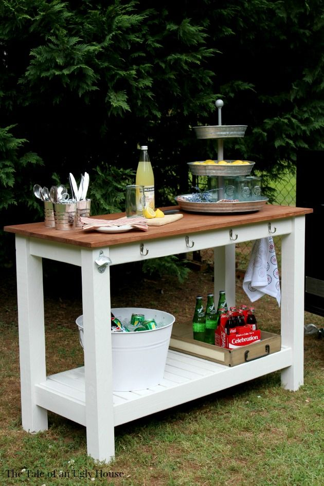 Pottery Barn Inspired Diy Outdoor Buffet 10 Amazing Kreg Jig Projects