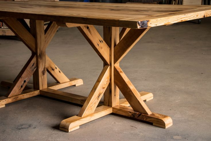 Diy Furniture Reclaimed X Trestle Dining Table How To