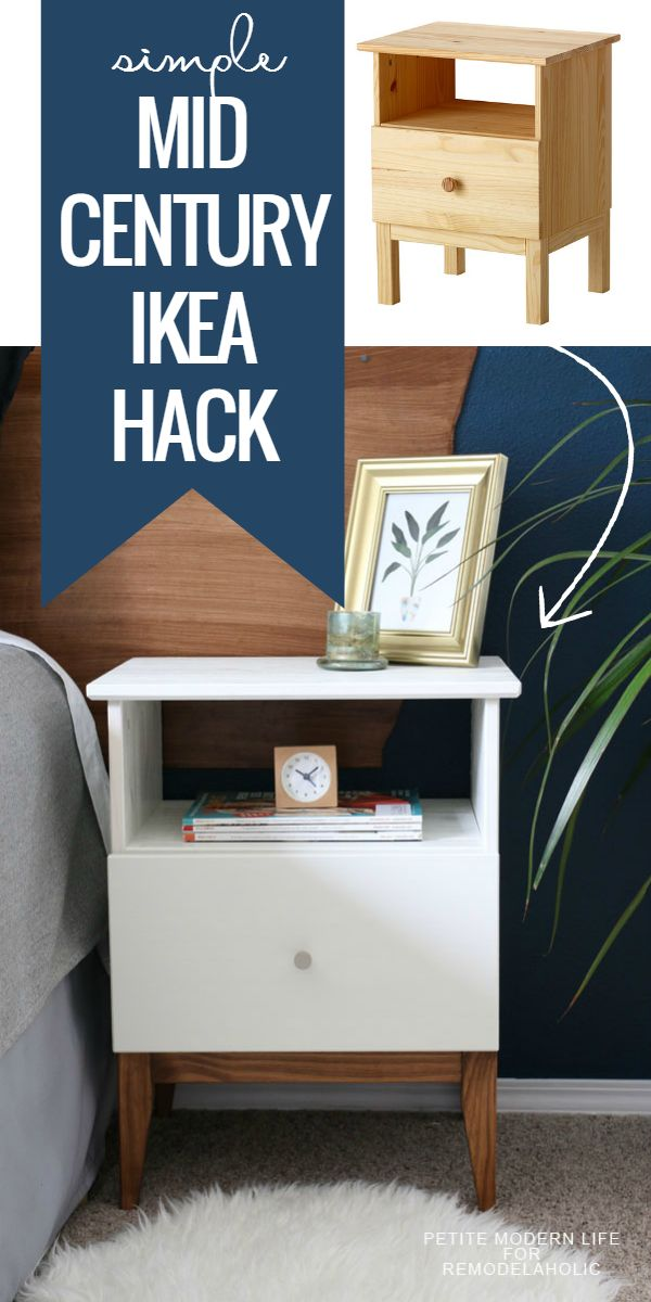 Diy Furniture Remodelaholic Easy Mid Century Ikea Tarva Nightstand Hack Diyall Net Home Of Diy Craft Ideas Inspiration Diy Projects Craft Ideas How To S For Home