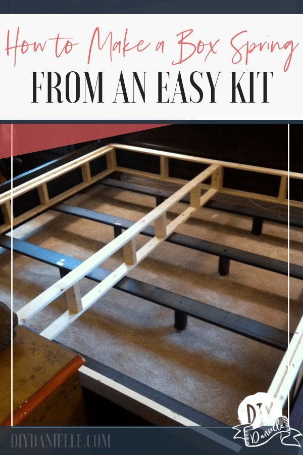 Simple Box Spring Kit Setup Instructions. This boxspring is easy to make from a ...