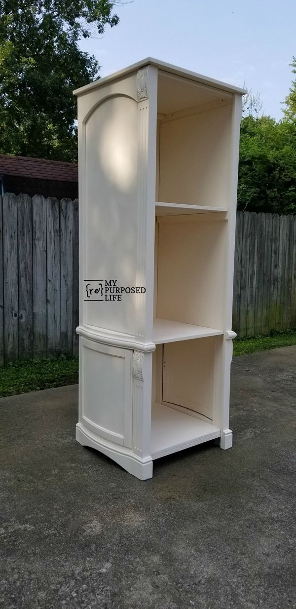 Step By Directions On How To Make A Repurposed Armoire Door Book Shelf Tip