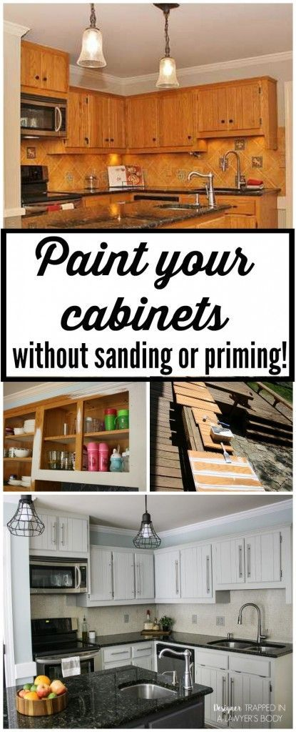 THIS IS AWESOME! Learn to paint your kitchen cabinets without sanding OR priming...