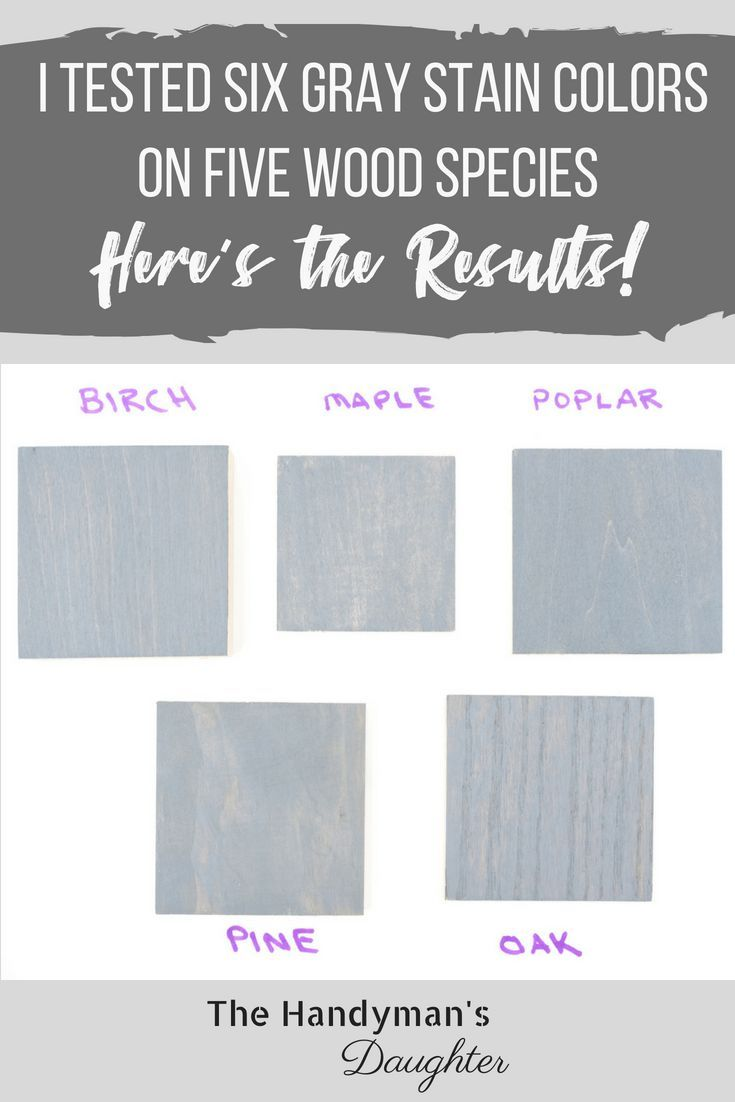 Take the guesswork out of all those grey wood stain colors! I've created samples...