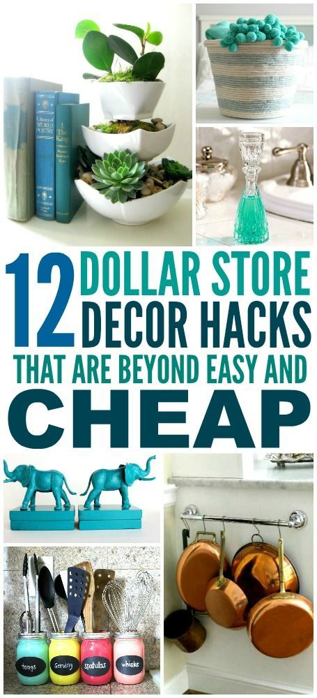 These 12 Dollar Store Decor Hacks are THE BEST! I'm so happy I found these G...