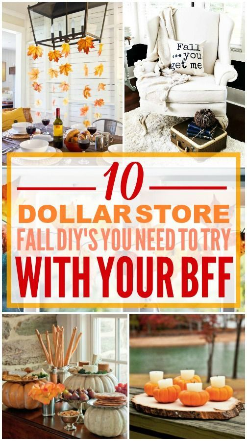 This fall dollar store decor is really amazing! I'm happy I found this fall doll...