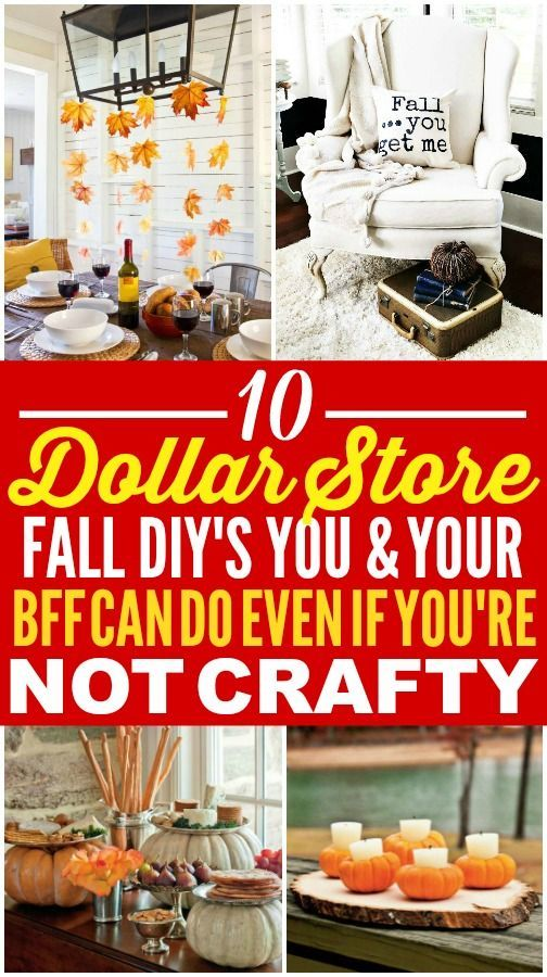 This fall dollar store decor is really great! I'm happy I found this fall dollar...