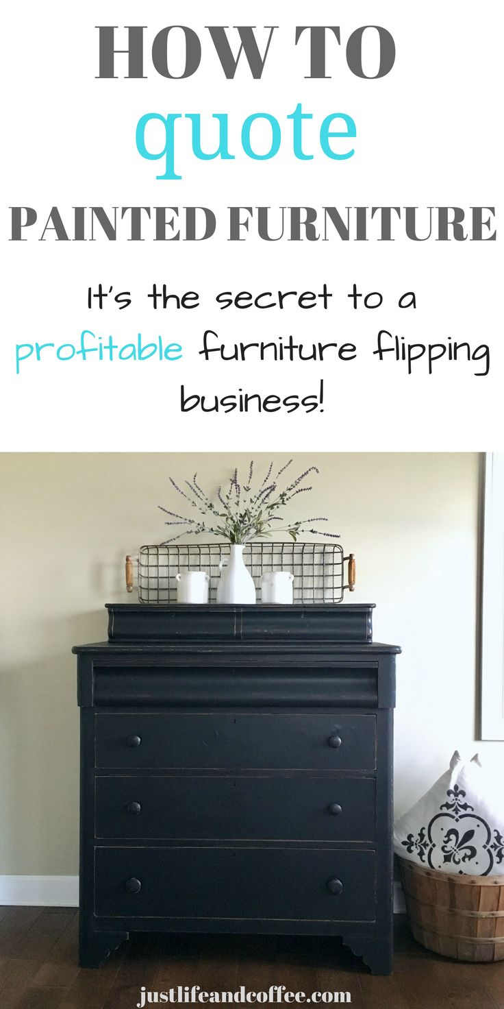 This is a simple step by step guide for how to quote custom painted furniture! I...