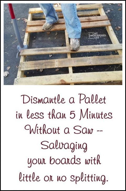 This is the best tool I've ever seen to easily take pallets apart! It works so w...