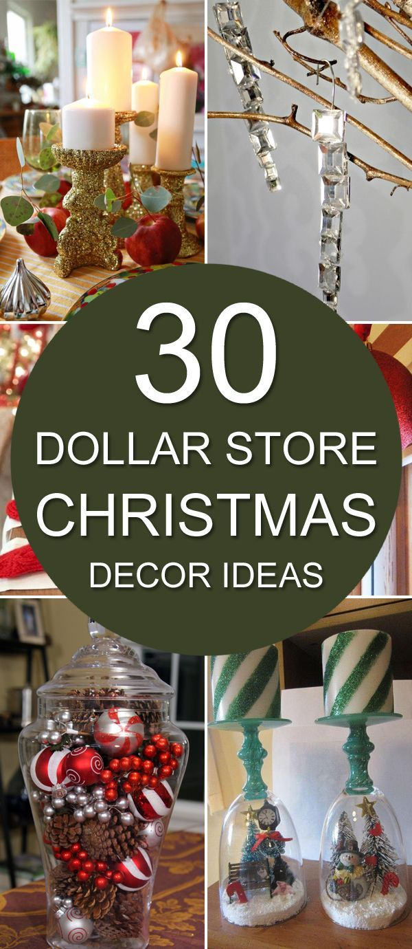 Try your hand at some of these awesome DIY dollar store Christmas decorations th...