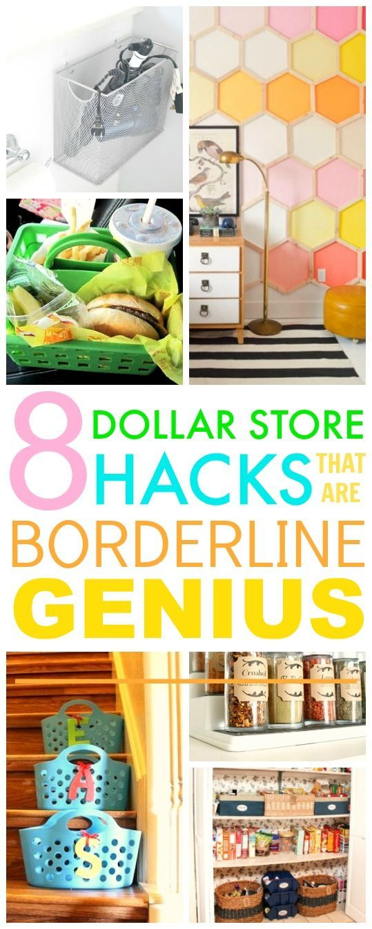 You HAVE TO check out these 8 Dollar store hacks! They're SO GOOD! I've ...