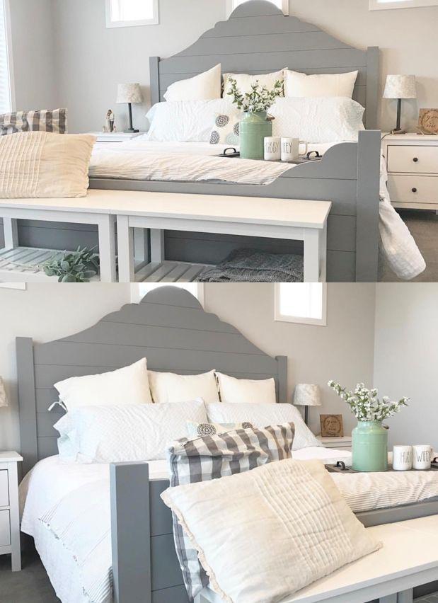 Diy Furniture A Diy Farmhouse Shiplap Bed Frame For The