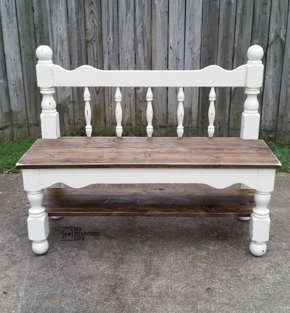 Wondrous Diy Furniture Make A Twin Headboard Bench Out Of An Old Evergreenethics Interior Chair Design Evergreenethicsorg