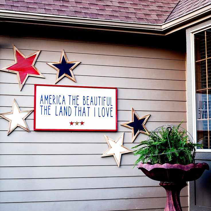 America the Beautiful Porch Sign •WhipperBerry