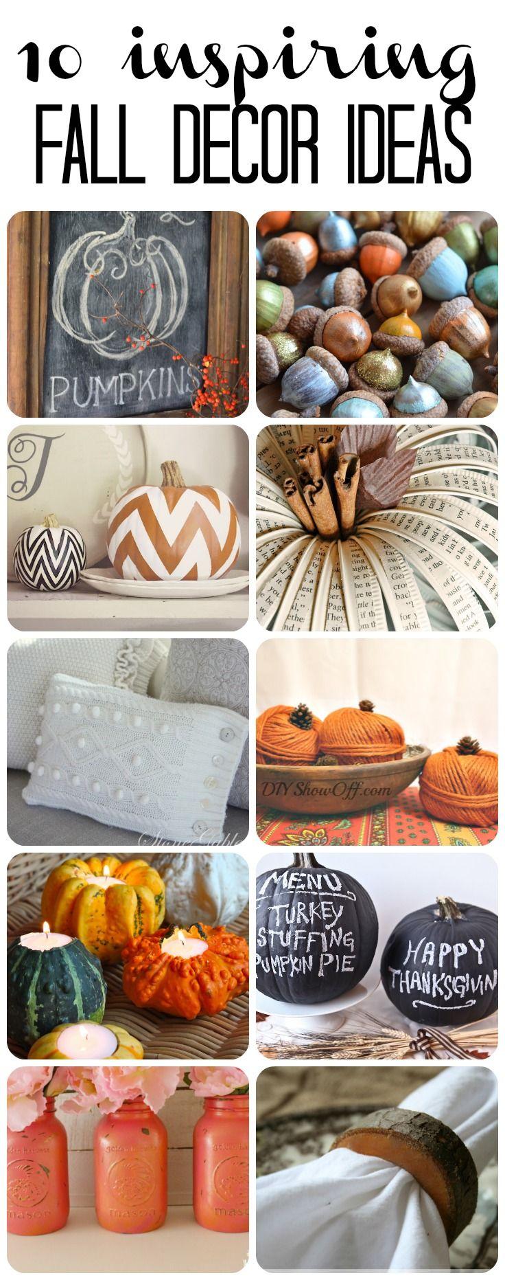 10 Inspiring DIY Fall Decor Ideas!  #falldecor