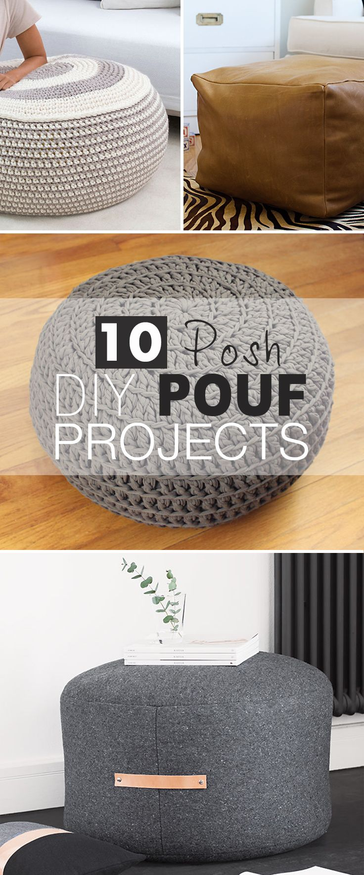 10 Posh DIY Pouf Projects! • Click thru to see all the ideas, projects and tut...